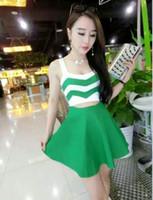 best mini umbrella - 6376 Best sell new summer stripe dew waist spaghetti strap vest umbrella dress night party dresses yzs168