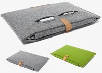 Wholesale Woolfelt Laptop Case for Macbook Air Pro quot quot quot inch Computer Bag Notebook Cover sleeve case for Macbook