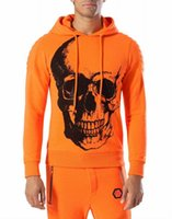 baseball head - 2016 new Trend Brand Philipp Vogue Hot Drilling Skull Head Men s Casual Running Camping Hiking Baseball Skateboarding hooded Sports suit