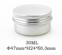 100pcs / lot 30g Vazia Aluminum Cosmetic Jar 0.3MM Thick Lip Gloss Container Screw Lid Maquillage Container Case Tea Box Factory Prix