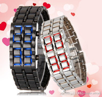 better irons - Special Price Lava Style Iron Fashion Faceless Red Binary LED Wrist Watches for Man Women Gold Black Sliver better