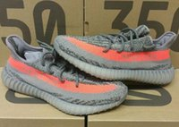 Wholesale High Quality V2 With Box Women Men size kanye Boost Low SPLY Kanye West Beluga Solar Red BB1826