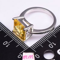 Cheap Classic Style Citrine 925 Sterling Silver Wedding Party Fashion Design Romantic Ring Size 5 6 7 8 9 10 11 12 PR39