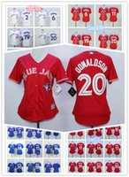 Wholesale Women Toronto blue jays jersey Troy Tulowitzki Marcus Stroman Jose Bautista Josh Donaldson throwback baseball jerseys women mlb jerseys