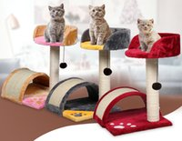 Wholesale Cat Tree Camo Fleece Cat Toys Inches Heigh Cat Safety Soft Climb Cat Climbing Frame pretty Color Cat Climb
