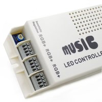 Wholesale High quality LED Music Sound Control RGB led Controller Dimmer for RGB LED Strips V Keys Wireless IR Remote Control