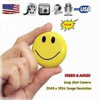 Sourire vidéo Prix-Sourire DVR Smiley MP3 Caméra cachée Bouton HD Video Recorder Mini Spy Cam Camcorder Avec fente pour carte TF Freeshipping Dropshipping