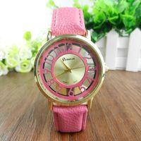 arabic man dress - Hot Sale SkeletonTransparent Watches for Men Women Arabic Numerals Leather Band Dress Watch Unisex Fashion Hollow Geneva Wrist Watches