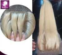 "Cheap Blonde #613 Silk Base Top Closure grade 8a Human Hair Silky Straight Brazilian Hair Silk base Lace Closure 8"" -24"" 4x4"