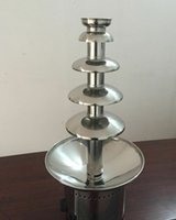 Wholesale 5 Tiers Electric Chocolate Fountain Maker Stainless Steel Height
