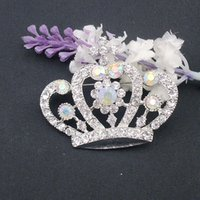 ab items - brooch collar High Quality New Beautiful AB Colorful Jewelry Crown Crystal Rhinestone Pin Brooch for Wedding party item BH7104