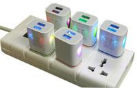 Precio de La iluminación universal,-Hasta la luz LED Puertos Dual USB cargador de pared del adaptador de la CA del hogar con nosotros enchufe de la UE para Iphone 6 Samsung DHL CAB127 móvil