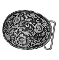 big cowgirl - New Super Buckle Rage Adult Womens Ornate Flowers Western Cowgirl Oval Belt Buckle man Big Belt Buckle Buckles High Quality