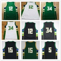 Wholesale 2015 Season All Style Basketball Jersey Top Quality Stitched Logo Basketball Jersey Green White