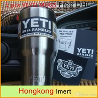 Wholesale Yeti oz or oz Cups Cooler YETI Rambler Tumbler Travel Vehicle Beer Mug Double Wall Bilayer Vacuum Insulated Stainless Steel