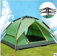 Wholesale Three person cm Double layer weather resistant waterproof outdoor camping tent for fishing hunting adventure and family party