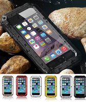 Metal aluminum protection - For iphone s Plus s Cover Case Extreme Armor Aluminum Silicone Gorilla Metal Glass screen Protection Waterproof Shockpoof with packag