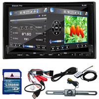 Wholesale Rear Camera GPS Navigation D PIP Map quot In Dash Din Car DVD Player Bluetooth TV Radio Steering Wheel