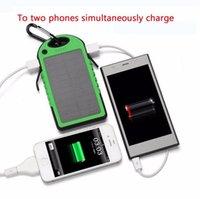 Wholesale Solar Charger Mah Dual USB Drop resistance portable Solar Power Bank mah ravel External Battery For smartphone