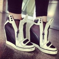 Wholesale Fashion Women s Breathable Shoes Brand New Original Quality Summer Fashion Pamela Mesh Wedge Sneakers Lamb Sneakers Concealed Wedge Shoes