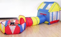Wholesale Kids Playhouse Adventure Play Tent Indoor Outdoor Tunnel Pool Pieces Set Ball Is Not Include E604E