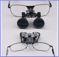 Cheap Dental Material 2.5x Titanium Frame Galilean Style Magnify Dental Loupes Surgical Medical 420mm