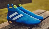 football boots - 2016 ace purecontrol Shock Blue soccer boots Soccer Shoes Pure Control Football Cleats Soccer Boots FG Football Shoes