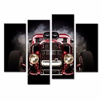 automobile spray paint - LK4132 Panel Oil Painting Automobile Retro Vintage Wall Painting Art Canvas Prints Wall Art Painting Pictures Print On Canvas
