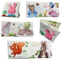 baby red squirrel - Cute baby cloth book night rabbit Baby Educational toys Animal Cat Rabbit Duck squirrel Rattle infant Toys