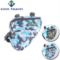 Wholesale Soul Travel Bicycle Frame Bags Nylon Rainproof Cycling Front Tube Bag Case Camouflage Triangle Bike Carrier Accessories Hot New