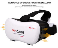 Wholesale 3D VR RK5 Case Virtual Reality D Glasses Headset Glasses D Movies for iPhone s plus Samsung Galaxy s5 s6