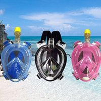 Wholesale Underwater Diving Mask Snorkel Set Swimming Training Scuba mergulho full face snorkeling mask Anti Fog For Gopro Camera