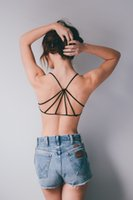 Wholesale China Lingerie Manufacturer Fashion Girls Strappy Back Bra Nylon Tank Top for Coming Summer YL