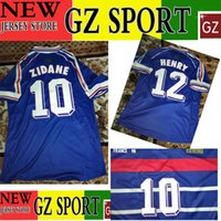 Wholesale 1998 ZIDANE HENRY retro jersey