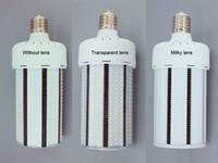 Wholesale DLC High Power LED Street Lighting Cool White E40 W Transparent Lens LED Corn Light degree Yard Garden Road Lamp years warranty