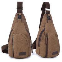 bicycle messenger backpack - 2016 pieces Canvas Hiking Messenger Travel Pack Chest Bag Shoulder Bicycle Backpack For Men