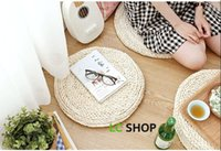 Wholesale Pastoral style thick handmade corn bran circular bay window seat cushion yoga mat tatami futon cushion