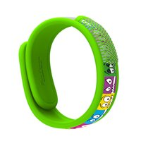 Wholesale Auberge Camping World Kids Mosquito Repellent Bracelets Deet Diffuser Wristbands Protection Against Mosquitoes And Insects Green