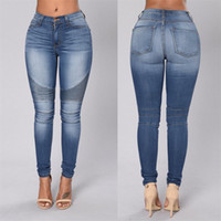 Wholesale 2016 Autumn clothes New Women Blue High Waist Classic Jeans Denim fold Skinny Jeans For Women Sexy Pencil Pants Jeans