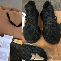 best woman shoes - Best Quality Boost Sneakers Kanye west Training Shoes pirate black with original box Keychain Socks Bag Receipt Boxes