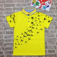Wholesale Boy Maple Leaves Polo Shirt Boy Polo Shirts Kids Summer Casual Cotton T Shirts Baby Boy clothes TL