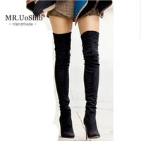Cheap Suede Thigh High Boots For Women   Free Shipping Suede Thigh ...