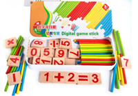 Wholesale 25pcs Wooden Cartoon Numbers PC Sticks Math Toy Educational Toys for Kids Baby Toys Games
