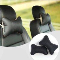 automobile leather care - Car Seat Headrest Pillow PU Leather Hole digging Auto Supplies Neck Safety Pillow Head Cushion Car Care Automobile Accessories