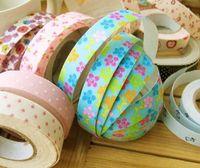 Wholesale Handmade Diy Tape Cute Photo Album Stickers Cotton Fabric Tape Cartoon Decorative Printing Tape label Glue Single cm x M