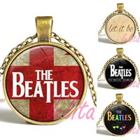 beatles band pictures - The Beatles Necklace Glass Picture Pendant Music Pendant Band Jewelry Glass Cabochon Necklace for men and women