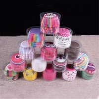 baking sets - New Cute set Cartoon Greaseproof Round Cupcake Paper Cake Cup Holder Muffin Cases Xmas Party Wedding cupcake liner baking cup