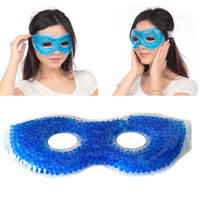 Wholesale Anti dark Eye Circles Hot or Cold Gel Eye Mask Relieve Stress Fatigue Puffy Swollen Soothing sleeping Eyes Massager