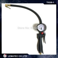 air resistance car - LEMATEC Ergonomically Tire inflator gun with shock resistance pressure gauge for vehicle car auto air tools tyre inflation tools