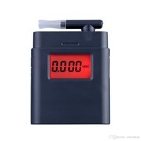 Wholesale AT Digital Breath Alcohol Tester with Backlight Breathalyzer Driving Essentials Prefessional Parking Detector Gadget E0712